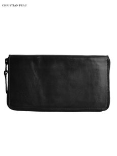 """画像1: 【Christian Peau - クリスチャンポー】B004 Wallet """"Cow Leather"""" / Black(ウォレット/ブラック) (1)"""