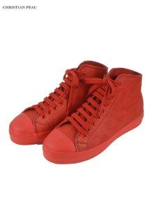 画像1: 【Christian Peau - クリスチャンポー】High Top Sneaker / Cow Leather / Red(スニーカー/レッド) (1)