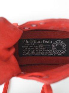 画像4: 【Christian Peau - クリスチャンポー】High Top Sneaker / Cow Leather / Red(スニーカー/レッド) (4)
