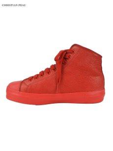 画像2: 【Christian Peau - クリスチャンポー】High Top Sneaker / Cow Leather / Red(スニーカー/レッド) (2)