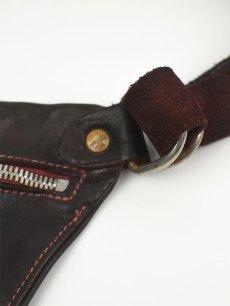 """画像5: 【GUIDI - グイディ】""""Q10"""" Belt Bag / Soft Horse Full Grain / Burgundy (バッグ/バーガンディ) (5)"""