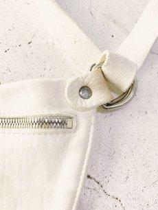 """画像4: 【GUIDI - グイディ】""""Q100""""Belt Bag / Soft Horse Full Grain / White (バッグ/ホワイト) (4)"""