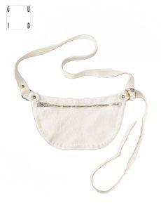 """画像2: 【GUIDI - グイディ】""""Q100""""Belt Bag / Soft Horse Full Grain / White (バッグ/ホワイト) (2)"""