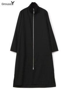 画像1: 【Ground Y  - グラウンドワイ】Rib Collar Long Shirt / Black(シャツ/ブラック)  (1)