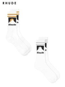 画像1: 【RHUDE - ルード】Mountain Logo Socks (ソックス)  (1)