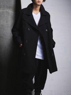 画像9: 【Ground Y  - グラウンドワイ】Vintage Flannel Big Pea Coat / Black (コート/ブラック)  (9)