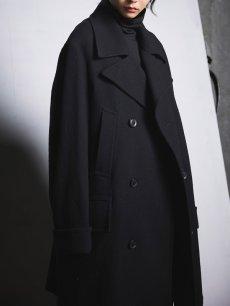 画像13: 【Ground Y  - グラウンドワイ】Vintage Flannel Big Pea Coat / Black (コート/ブラック)  (13)