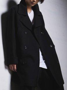 画像11: 【Ground Y  - グラウンドワイ】Vintage Flannel Big Pea Coat / Black (コート/ブラック)  (11)