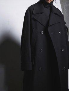 画像12: 【Ground Y  - グラウンドワイ】Vintage Flannel Big Pea Coat / Black (コート/ブラック)  (12)