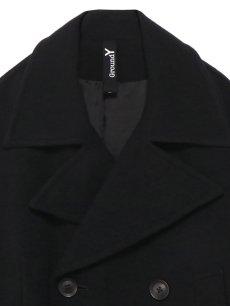 画像3: 【Ground Y  - グラウンドワイ】Vintage Flannel Big Pea Coat / Black (コート/ブラック)  (3)