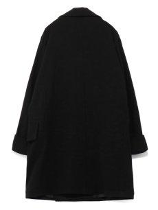 画像2: 【Ground Y  - グラウンドワイ】Vintage Flannel Big Pea Coat / Black (コート/ブラック)  (2)