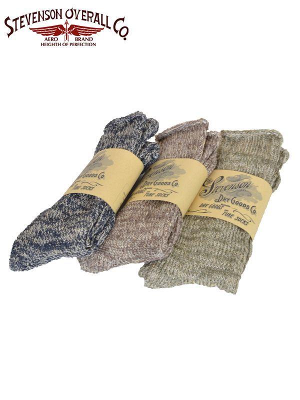 画像1: 【STEVENSON OVERALL Co. - スティーブンソン オーバーオール】 Tube Socks - Ts2(ソックス/靴下) (1)