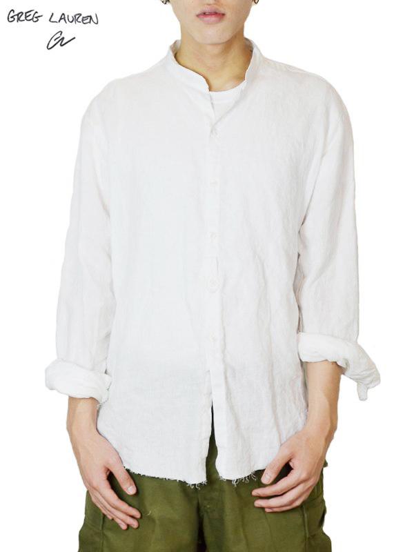 画像1: 【GREG LAUREN - グレッグローレン】 Studio Shirt / White Linen (シャツ/リネン) (1)