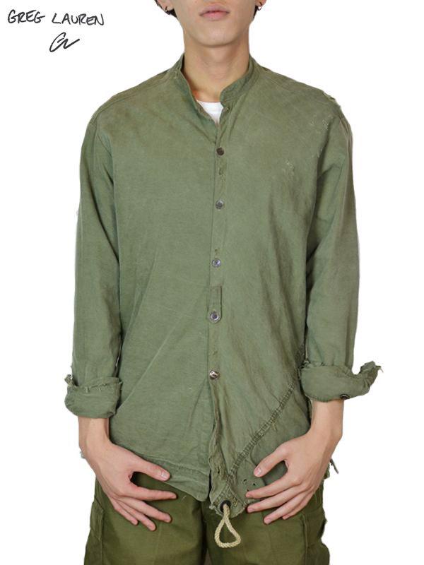 画像1: 【GREG LAUREN - グレッグローレン】 Studio Shirt / Army Tent(シャツ/アーミーテント) (1)