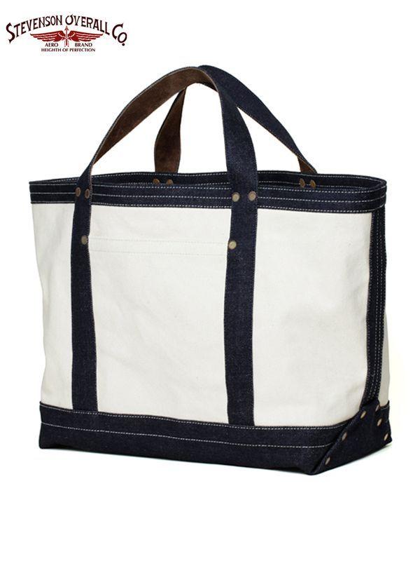 画像1: 【Stevenson Overall Co. - スティーブンソン】SCC x SOC Tote Bag - SST2 / Natural × Indigo(トートバッグ) (1)