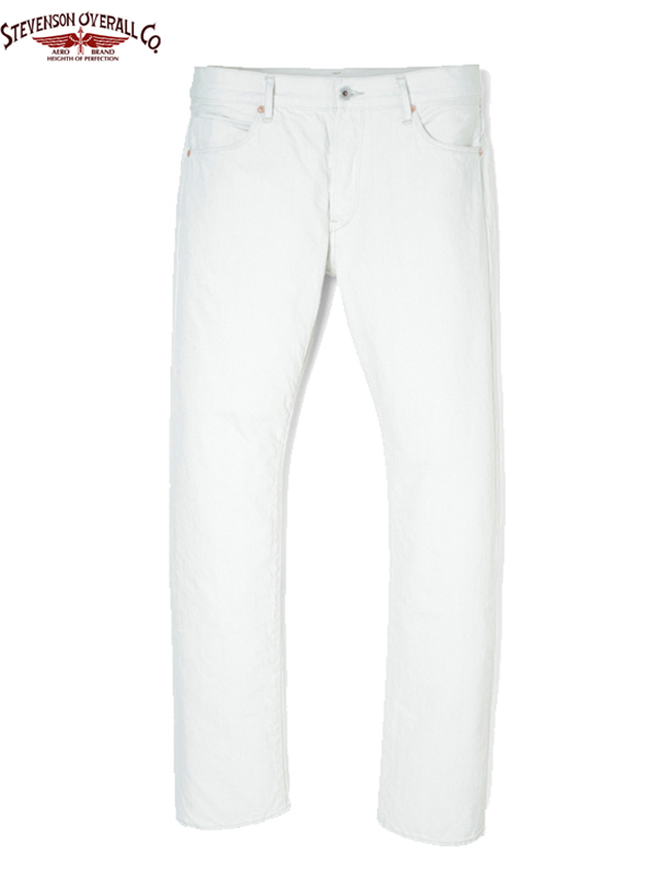 画像1: 50%OFF【STEVENSON OVERALL Co.】La Jolla - 727 / White(デニム/ホワイト) (1)
