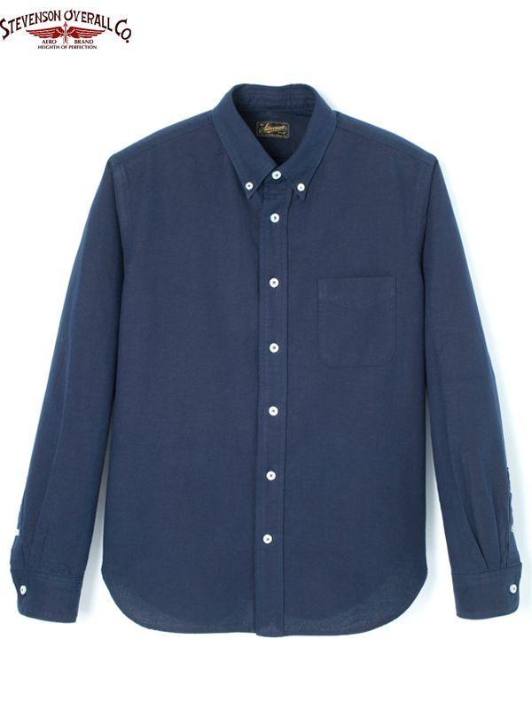 画像1: 【STEVENSON OVERALL Co. - スティーブンソン オーバーオール】Old Ivy -OI1/Indigo(BDシャツ/インディゴ) (1)