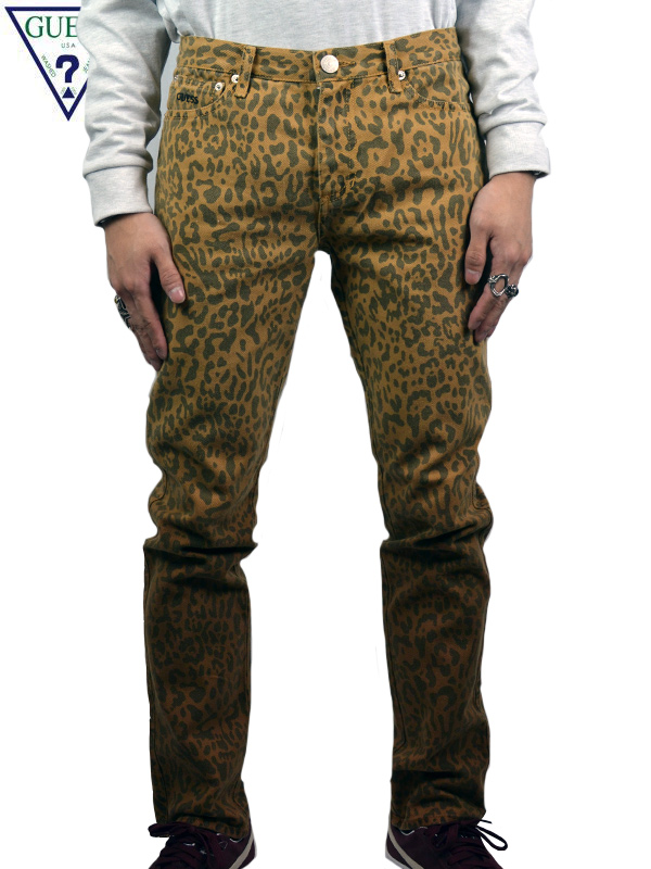画像1: 【GUESS GREEN LABEL】LEOPARD DENIM PANTS / LEOPARD (デニム/レオパード) (1)