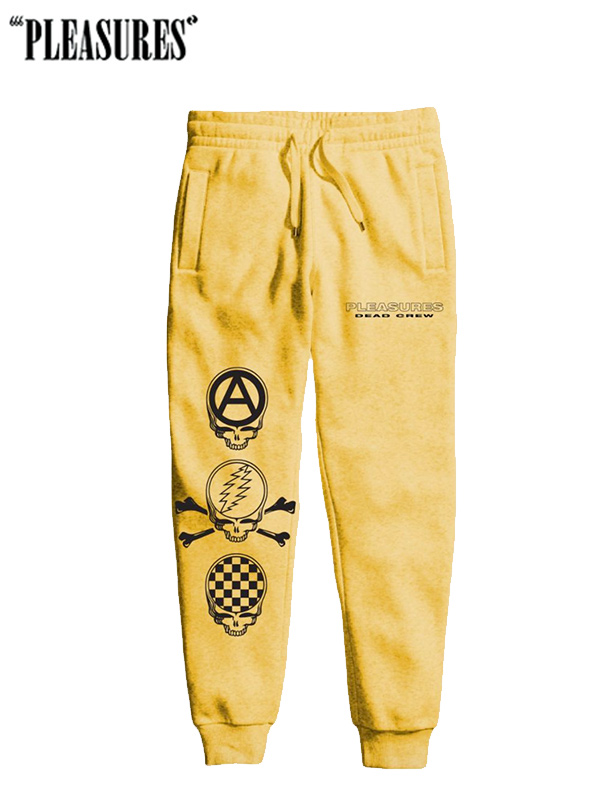画像1: 50%OFF【PLEASURES × THE GRATEFUL DEAD】Grateful Dead Crew Premium Sweatpants / YELLOW (スウェットパンツ/イエロー) (1)