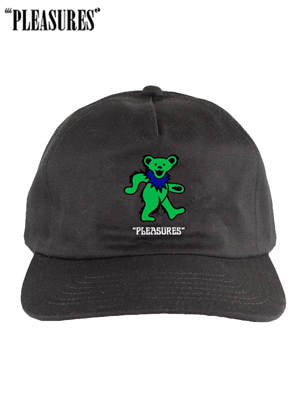 画像1: 30%OFF【PLEASURES × THE GRATEFUL DEAD】Grateful Dead Bear Hat / BLACK (キャップ/ブラック) (1)