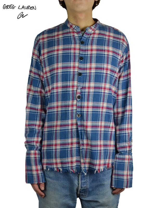 画像1: 【GREG LAUREN - グレッグローレン】Everest Flannel Studio Shirt / Blue/Red/White (シャツ/ブルー/レッド/ホワイト) (1)