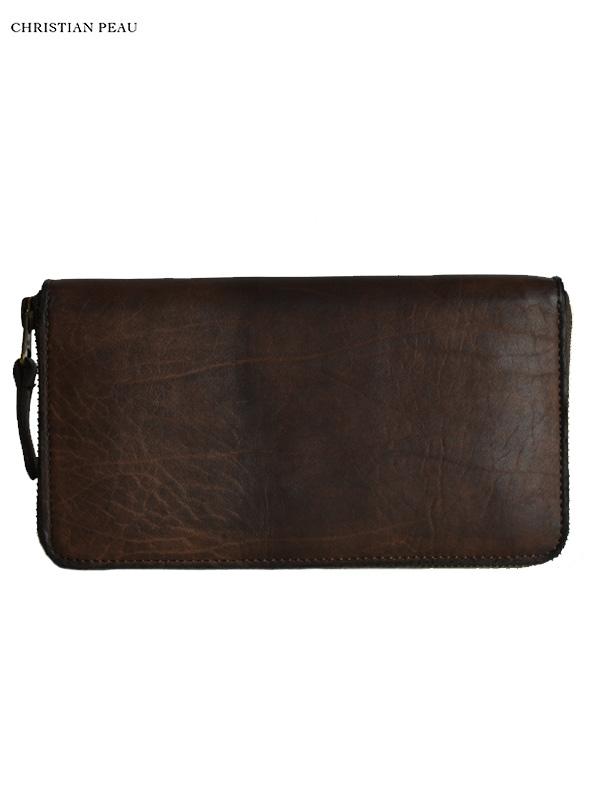 """画像1: 【Christian Peau - クリスチャンポー】B004 Wallet """"Cow Leather"""" / Dark Brown(ウォレット/ダークブラウン) (1)"""