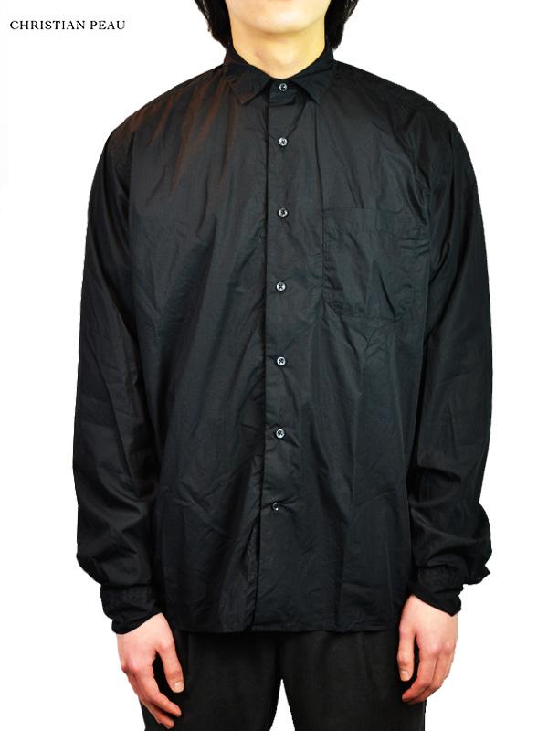 画像1: 【Christian Peau - クリスチャンポー】CP SHIRT ONE POCKET / Black(シャツ/ブラック) (1)