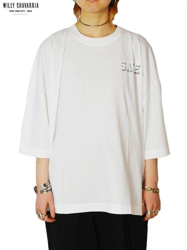 """画像1: 30%OFF【WILLY CHAVARRIA - ウィリーキャバリア】CREW NECK BUFFALO T """"SAVE ME""""/WHITE(Tシャツ/ホワイト) (1)"""