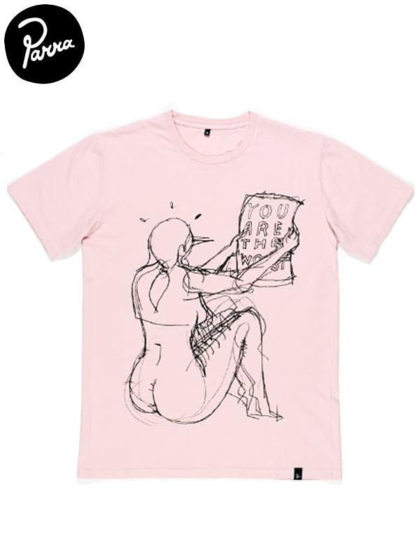 """画像1: 20%OFF【by Parra - バイ パラ】T-shirt """"THE WORST""""/STONEWASHED PINK(Tシャツ/ピンク) (1)"""