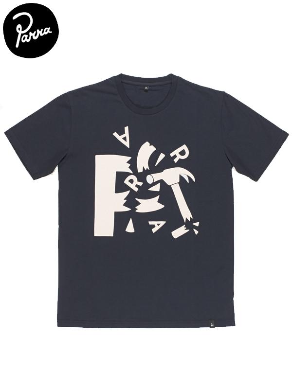 """画像1: 【by Parra - バイ パラ】T-shirt """"shattered""""/Navy blue(Tシャツ/ネイビー) (1)"""