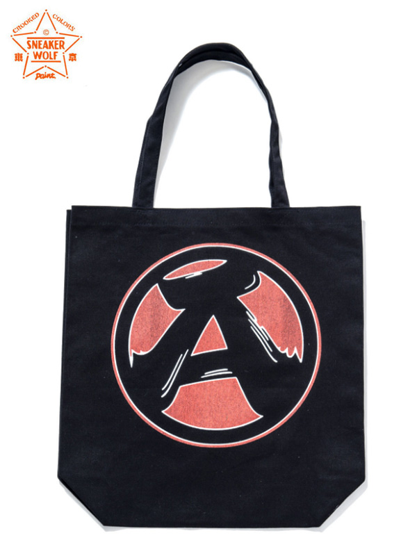 "画像1: 【The Wolf In Sheep's Clothing】""A"" Tote Bag / Black(トートバッグ/ブラック) (1)"