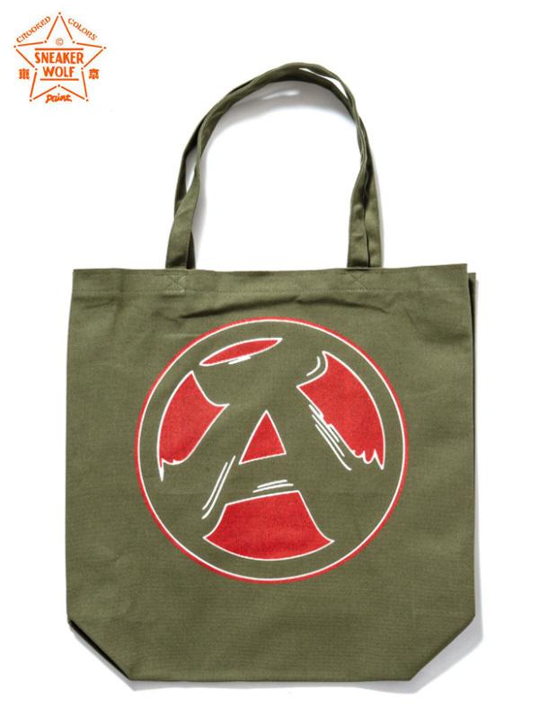"""画像1: 【The Wolf In Sheep's Clothing】""""A"""" Tote Bag / Olive(トートバッグ/オリーブ) (1)"""