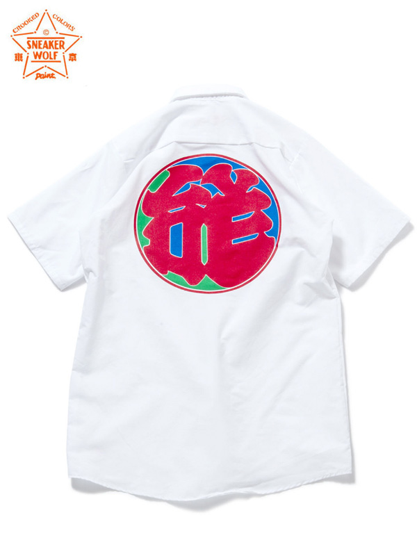 """画像1: 【The Wolf In Sheep's Clothing】""""LOVE"""" Work Shirts/White(ワークシャツ/ホワイト) (1)"""