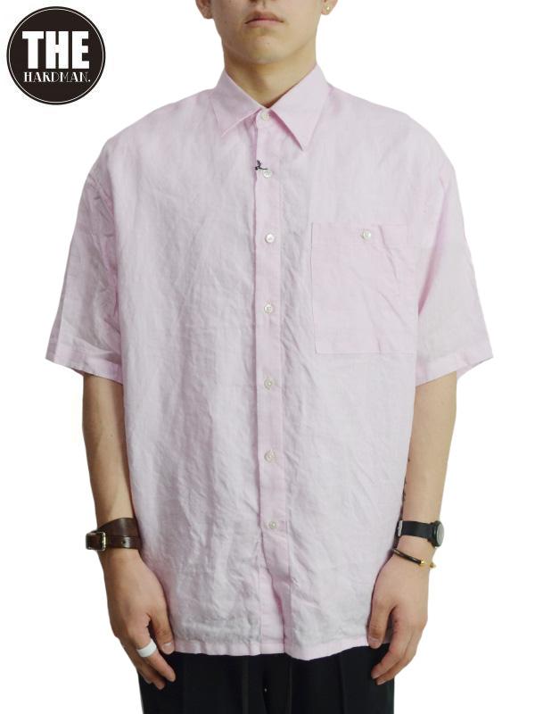 画像1: 50%OFF【THE HARD MAN - ザハードマン】Irish linen shirts loose fit/Pink(リネンシャツ/ピンク) (1)