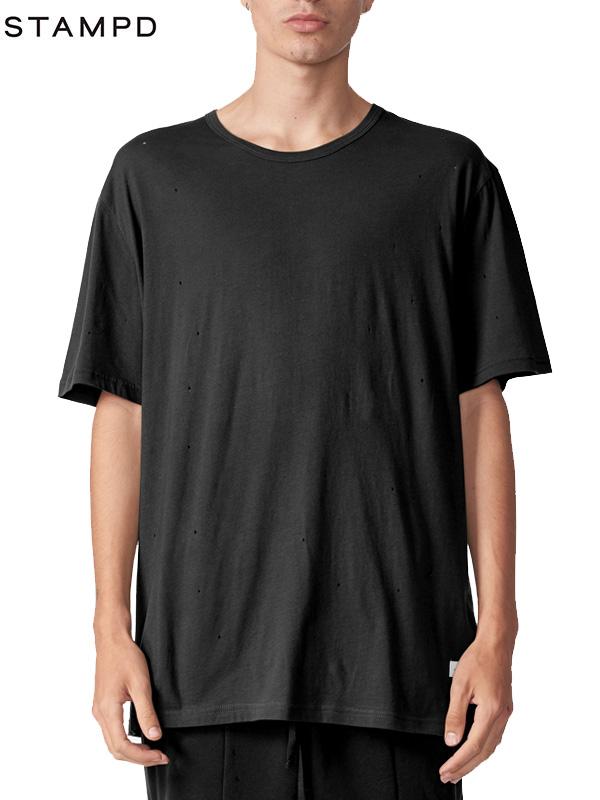 画像1: 50%OFF【STAMPD - スタンプド】Distressed Voir Tee /Black(Tシャツ/ブラック) (1)