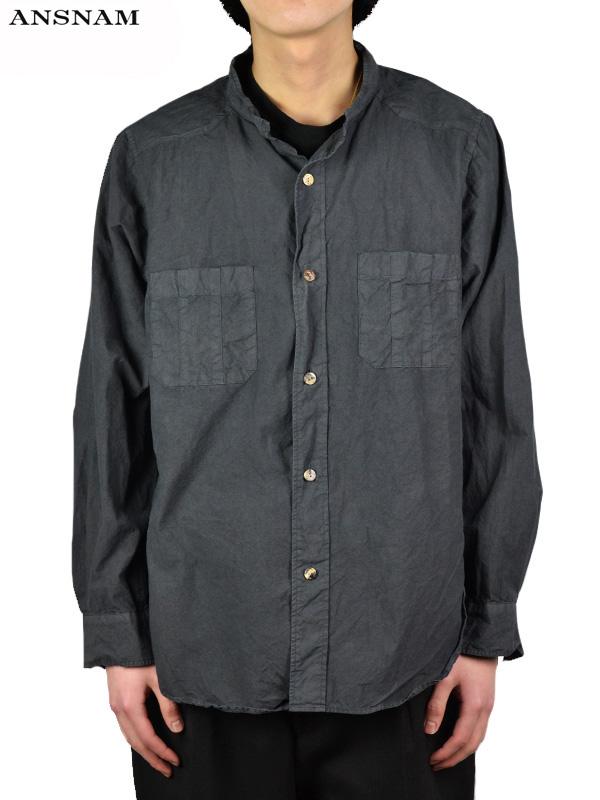 画像1: 【ANSNAM - アンスナム】Western Shirt / Deep Black(シャツ/墨黒) (1)