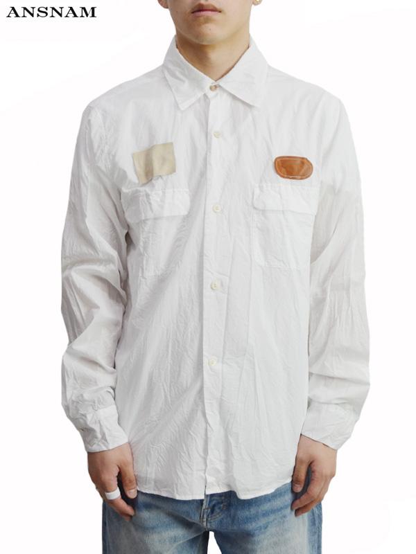 画像1: 【ANSNAM - アンスナム】Work Shirt / White(シャツ/ホワイト) (1)