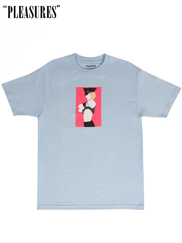 画像1: 20%OFF【PLEASURES×Patrick Nagel】ARRESTED T-SHIRT / Blue(Tee/ブルー) (1)