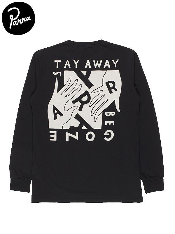 """画像1: 【by Parra - バイ パラ】Long Sleeve T-shirt """"stay away be gone""""/Black(Tシャツ/ブラック) (1)"""