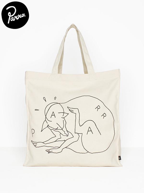 画像1: 【by Parra - バイ パラ】tote bag scratch dog / Natural(トートバッグ/ナチュラル) (1)