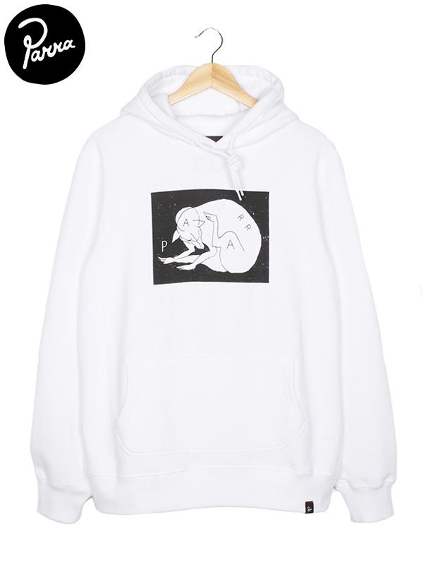"""画像1: 【by Parra - バイ パラ】Hooded Sweater """"SCRATCH DOG"""" / White(パーカー/ホワイト)  (1)"""