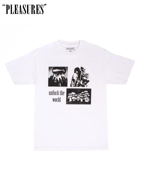 画像1: 40%OFF【PLEASURES - プレジャーズ】World T-SHIRT / White (Tee/ホワイト) (1)