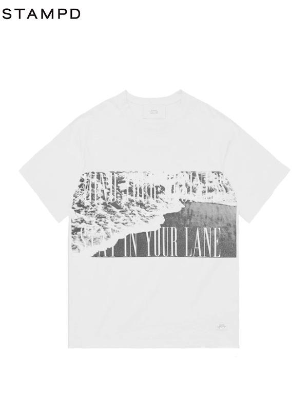 画像1: 【STAMPD - スタンプド】Wave Tee/ White (Tシャツ/ホワイト) (1)