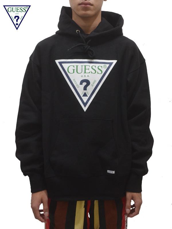 画像1: 【GUESS GREEN LABEL 】 Guess Logo Hoodie/ Black(パーカー/ブラック) (1)