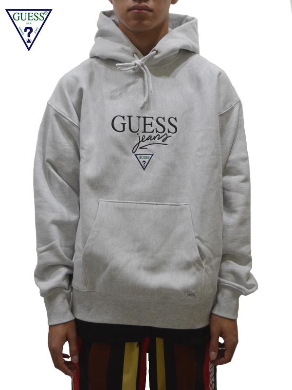 画像1: 【GUESS GREEN LABEL 】 Guessjeans USA Hoodie/ Grey(パーカー/グレー) (1)