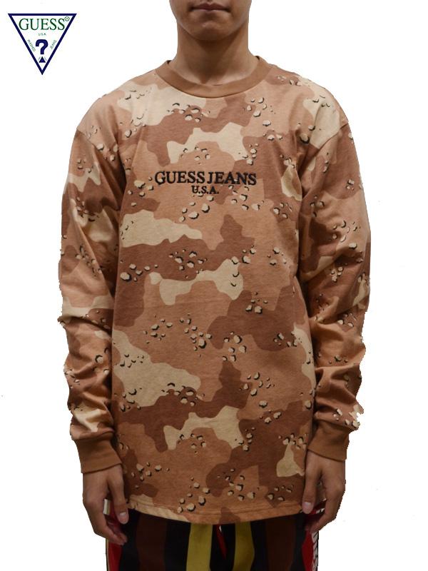 画像1: 【GUESS GREEN LABEL】Guessjeans USA L/S Tee/ Camo(Tシャツ/カモ) (1)