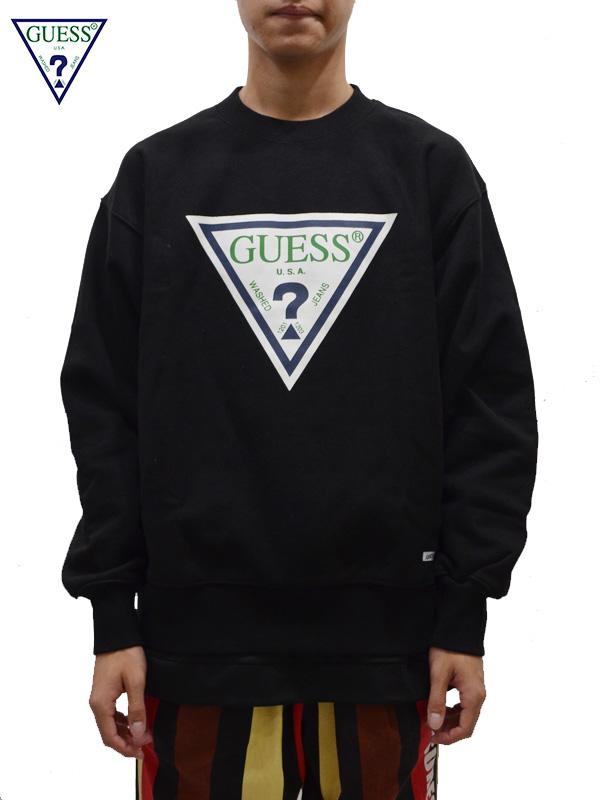 画像1: 【GUESS GREEN LABEL】 Guess Logo Sweat / Black(スウェット/ブラック) (1)