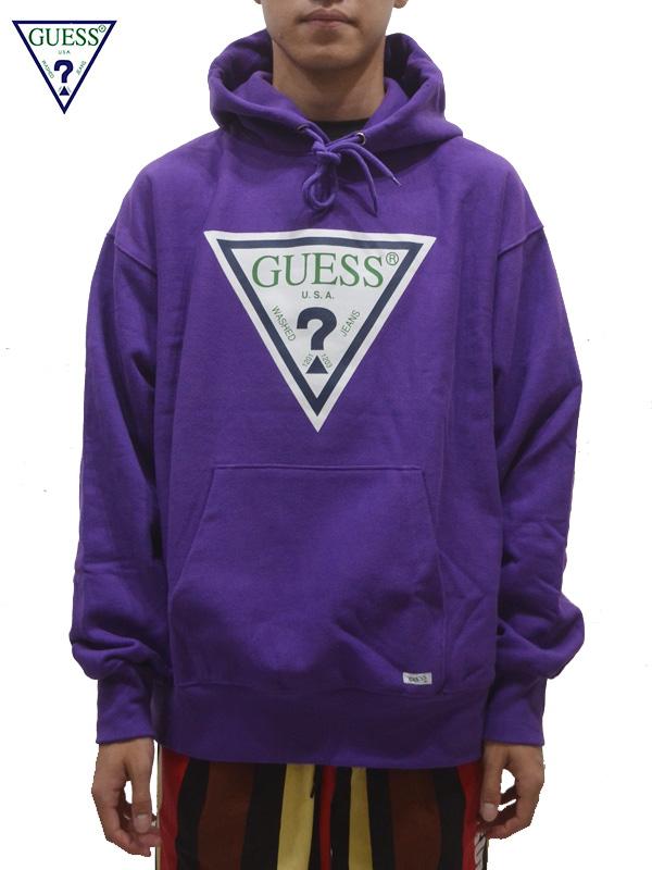 画像1: 【GUESS GREEN LABEL 】 Guess Logo Hoodie/ Purple(パーカー/パープル) (1)