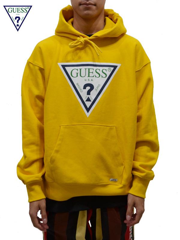 画像1: 【GUESS GREEN LABEL 】 Guess Logo Hoodie/ Yellow(パーカー/イエロー) (1)