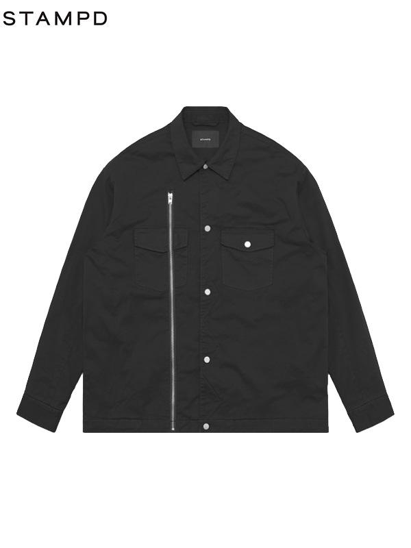 画像1: 30%OFF【STAMPD - スタンプド】Asher Shirt Jacket / Black (ジャケット/ブラック) (1)